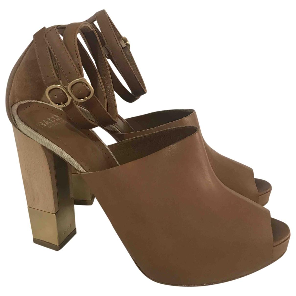 Bally - Sandales   pour femme en cuir - beige