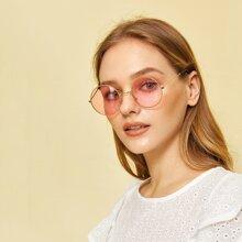 Runde Sonnenbrille mit Rahmen