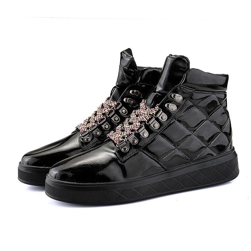 Ericdress Plain High-Cut Upper Lace-Up Round Toe Men's Skate Shoes