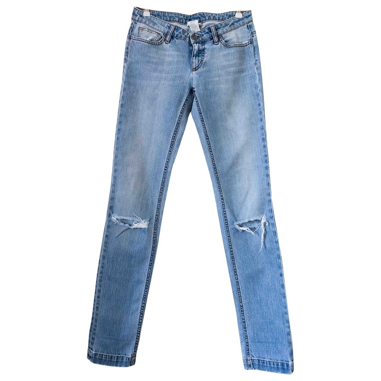 Dolce & Gabbana \N Blue Cotton - elasthane Jeans for Women 26 US