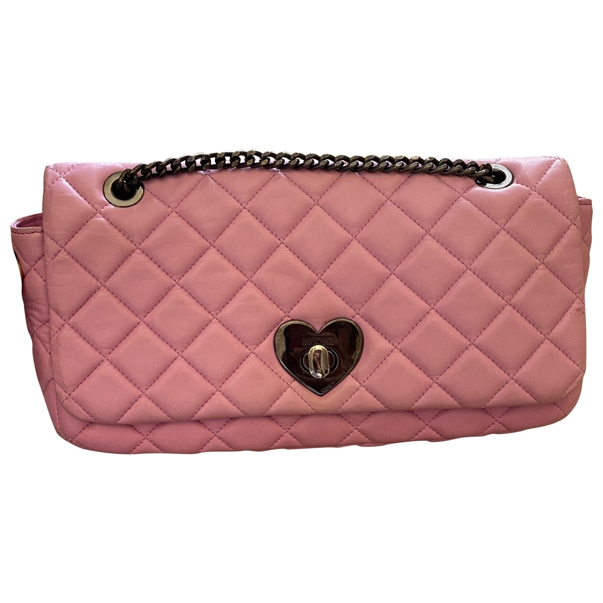 Moschino Cheap And Chic \N Pink Leather Clutch bag for Women \N