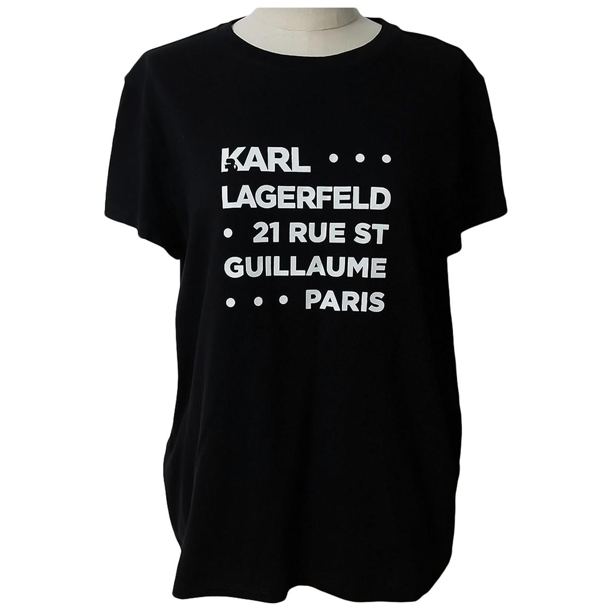 Karl Lagerfeld - Top   pour femme en coton - noir