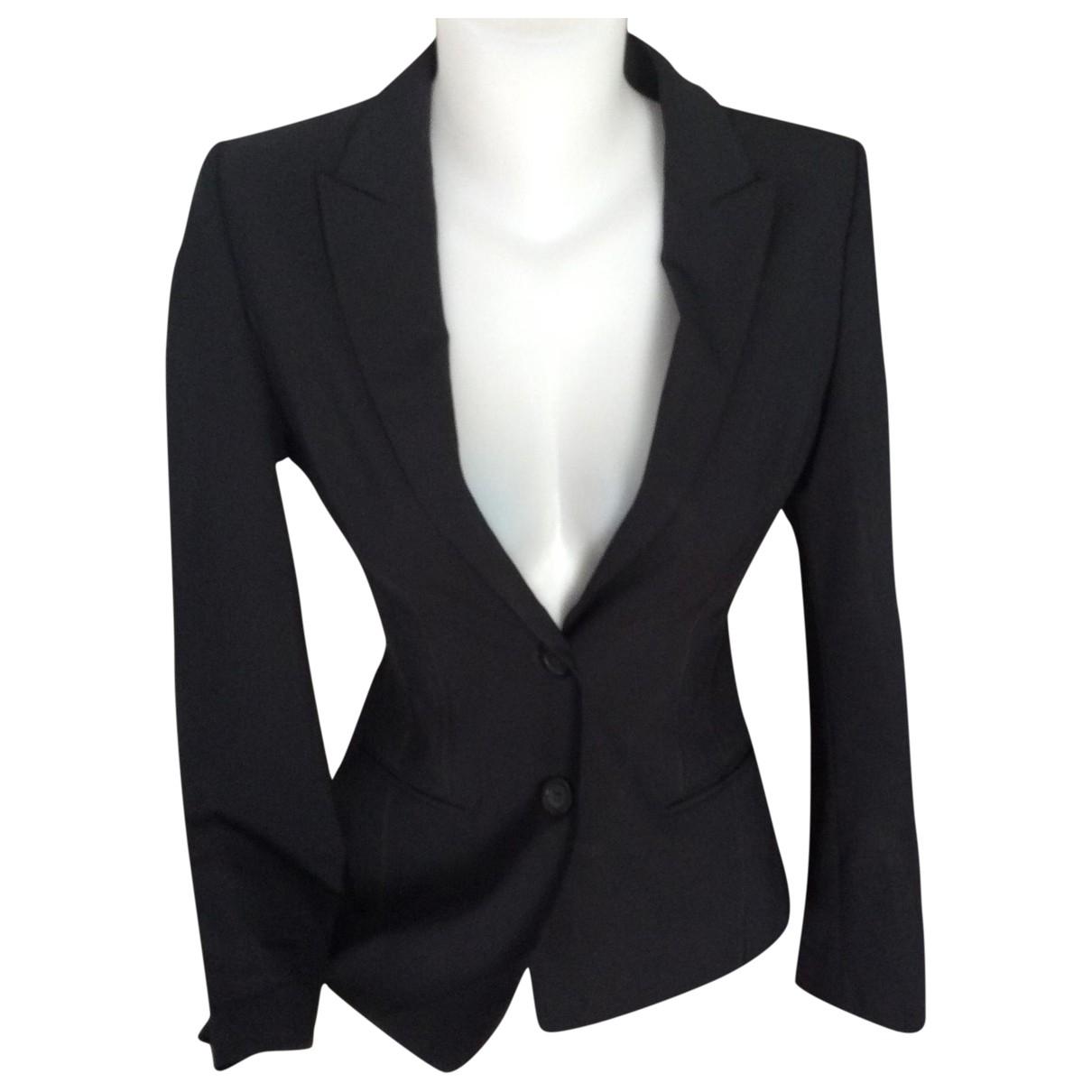 Boss - Veste   pour femme en laine - noir