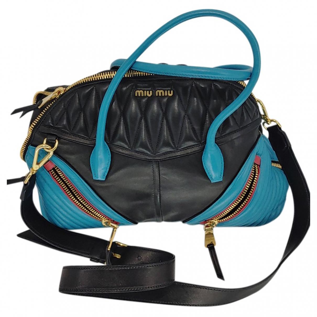 Miu Miu \N Turquoise Leather handbag for Women \N