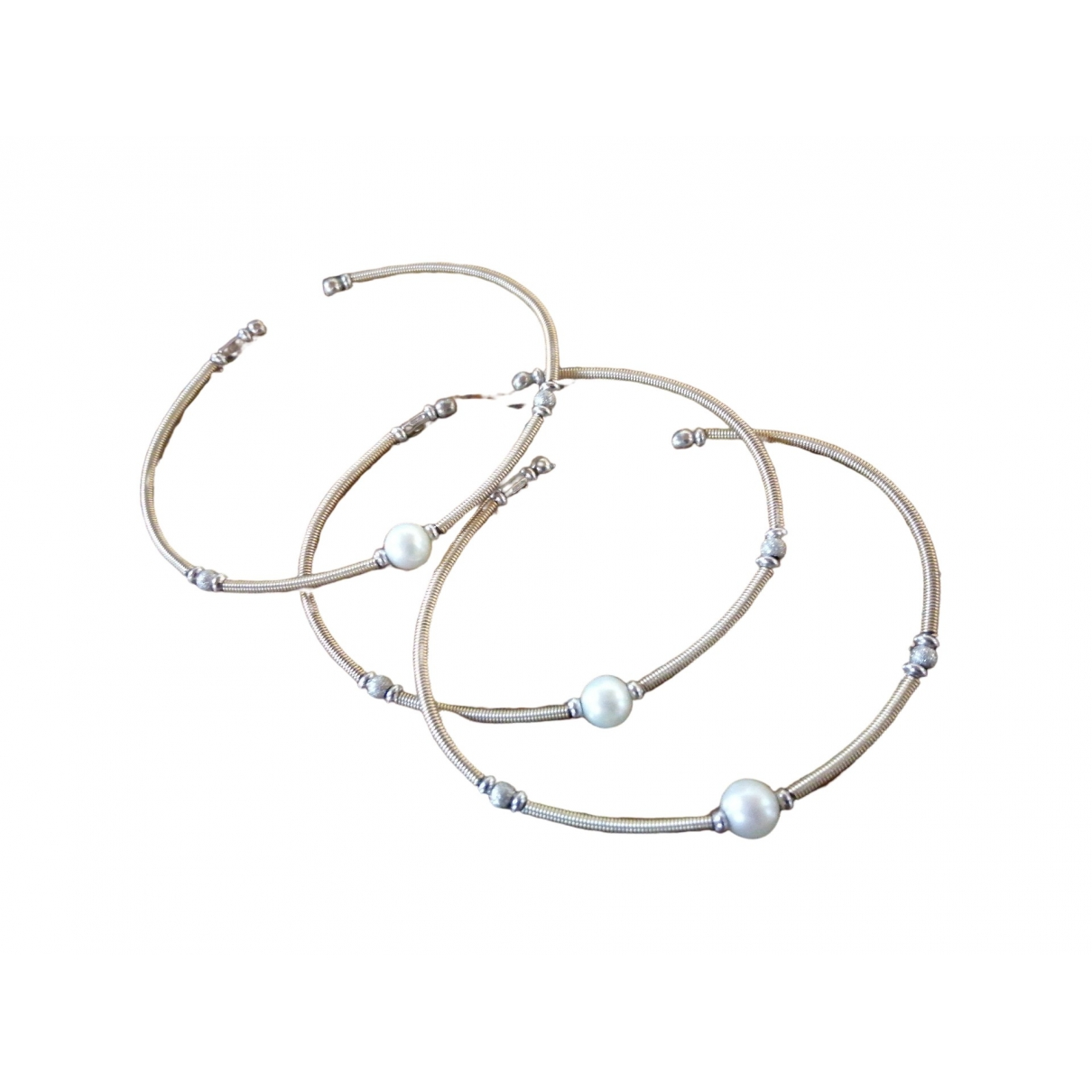 Non Signe / Unsigned Jonc Armband in  Gold Silber