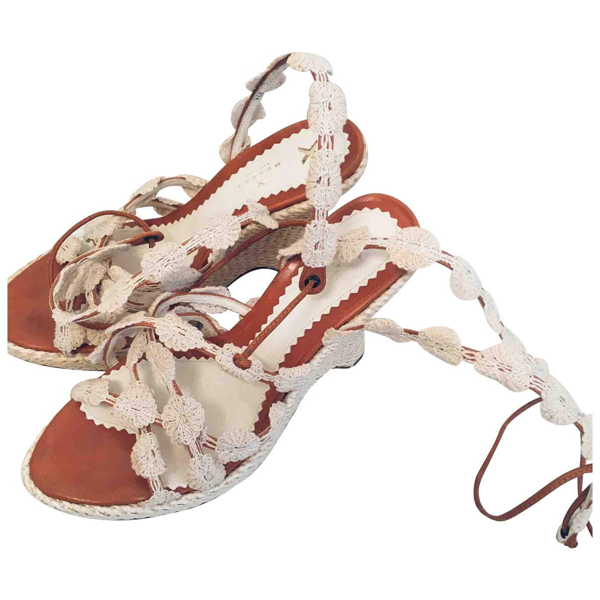 Non Signe / Unsigned \N Sandalen in  Weiss Kunststoff