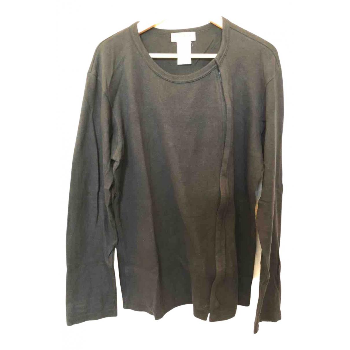 Yohji Yamamoto \N Pullover.Westen.Sweatshirts  in  Schwarz Leinen