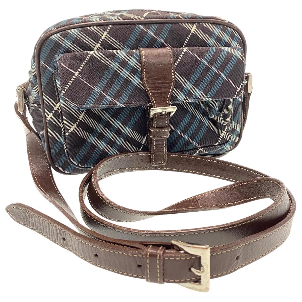 Burberry \N Handtasche in  Blau Leinen