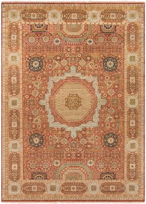 Cambridge CMB-8008 9 x 13 Rectangle Traditional Rug in Rust  Cream  Tan  Olive  Navy