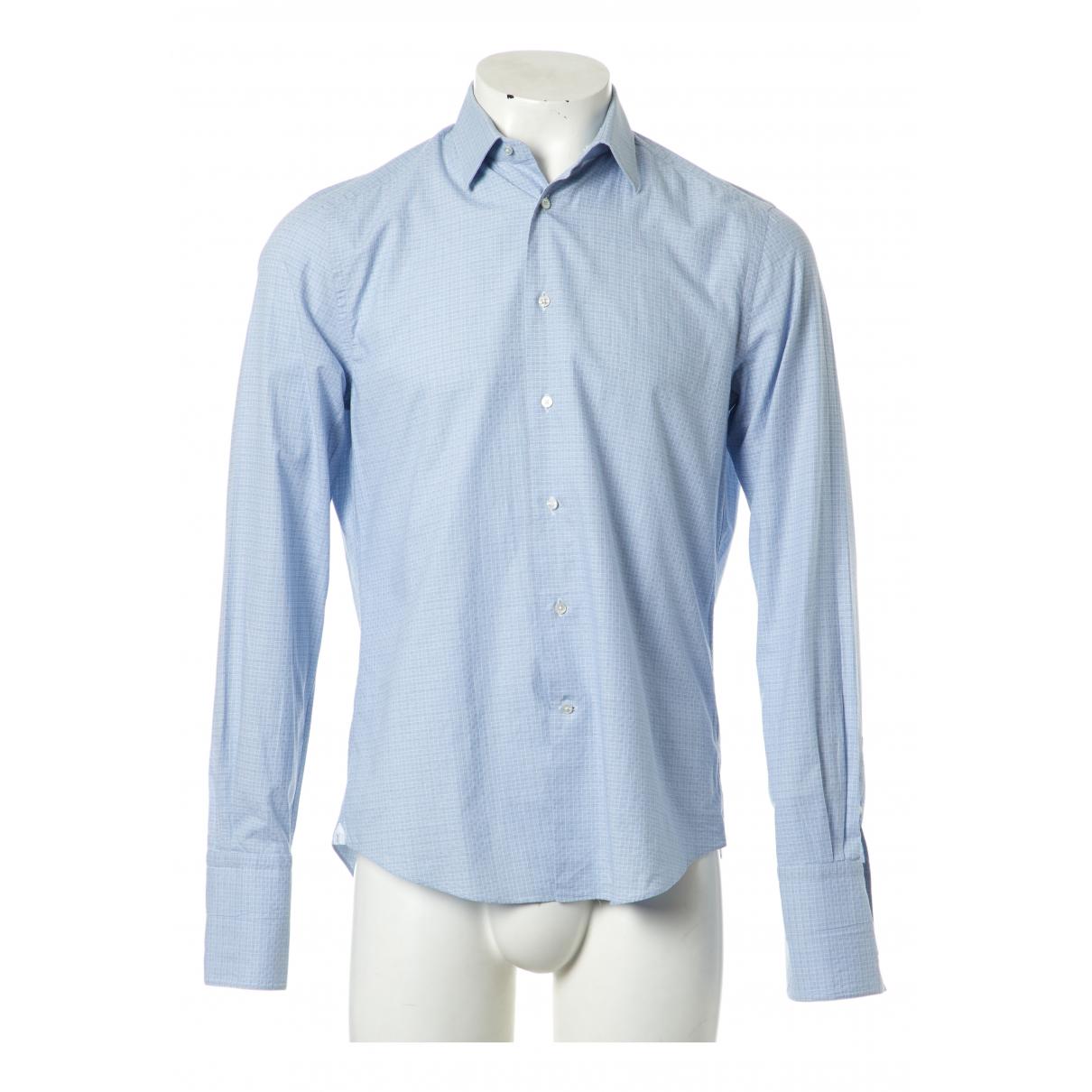 Louis Vuitton - Chemises   pour homme en coton - bleu