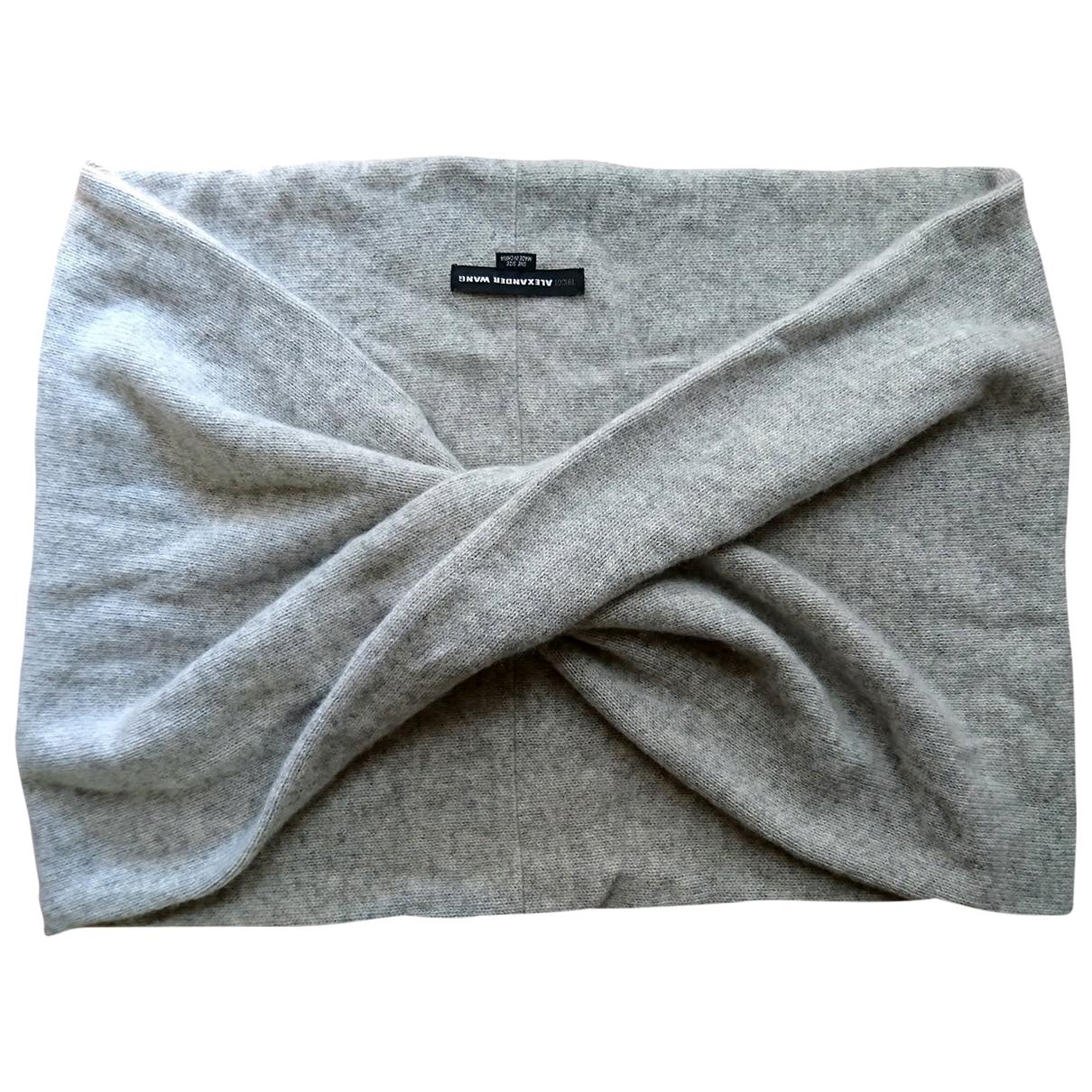 Alexander Wang \N Grey Cashmere scarf for Women \N