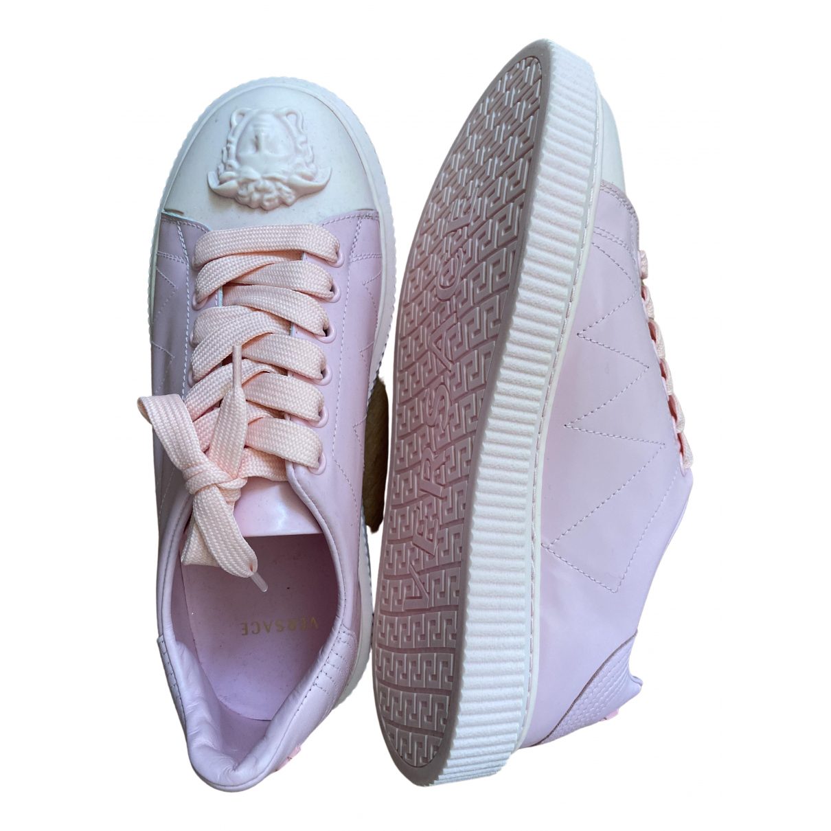 Versace \N Sneakers in  Rosa Leder