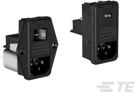 TE Connectivity , Corcom L 6A 120 V ac, 240 V ac 50/60Hz Power Line Filter (16)