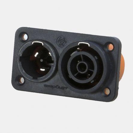 RS PRO Compact Power Connector Panel Mount Plug, Socket, 16A, 250 V dc, 500 V dc
