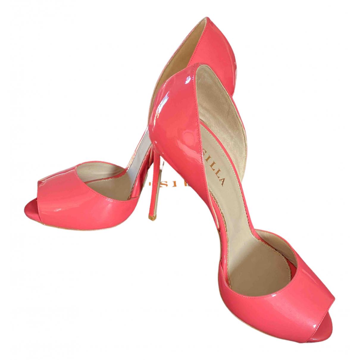 Le Silla - Escarpins   pour femme en cuir verni - rose