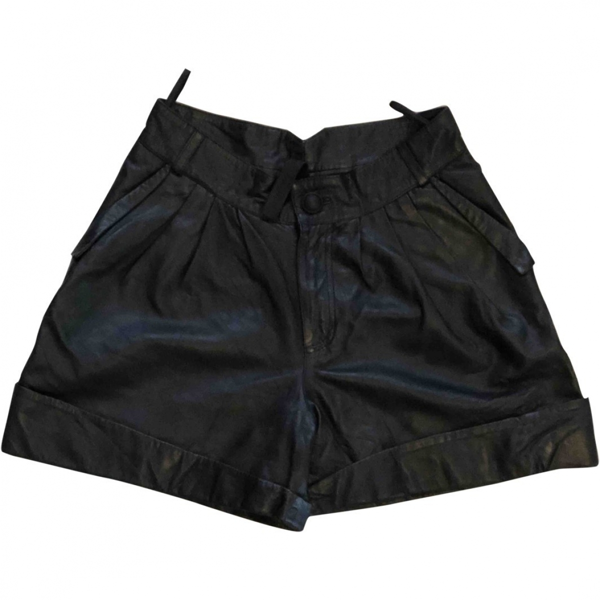 Gestuz \N Black Leather Shorts for Women 38 IT
