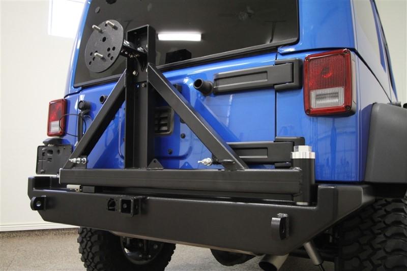 Rockhard 4x4 RH-5001 Patriot Series Rear Bumper With Tire Carrier Jeep Wrangler JK 07-18