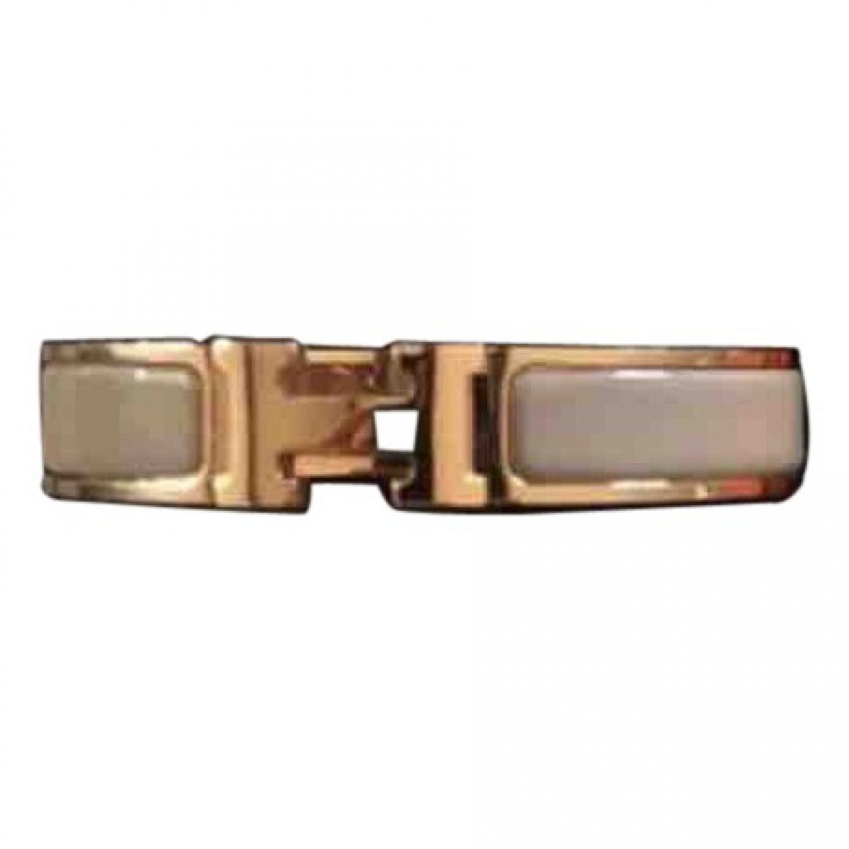 Hermes - Bracelet Clic H pour femme en metal - beige