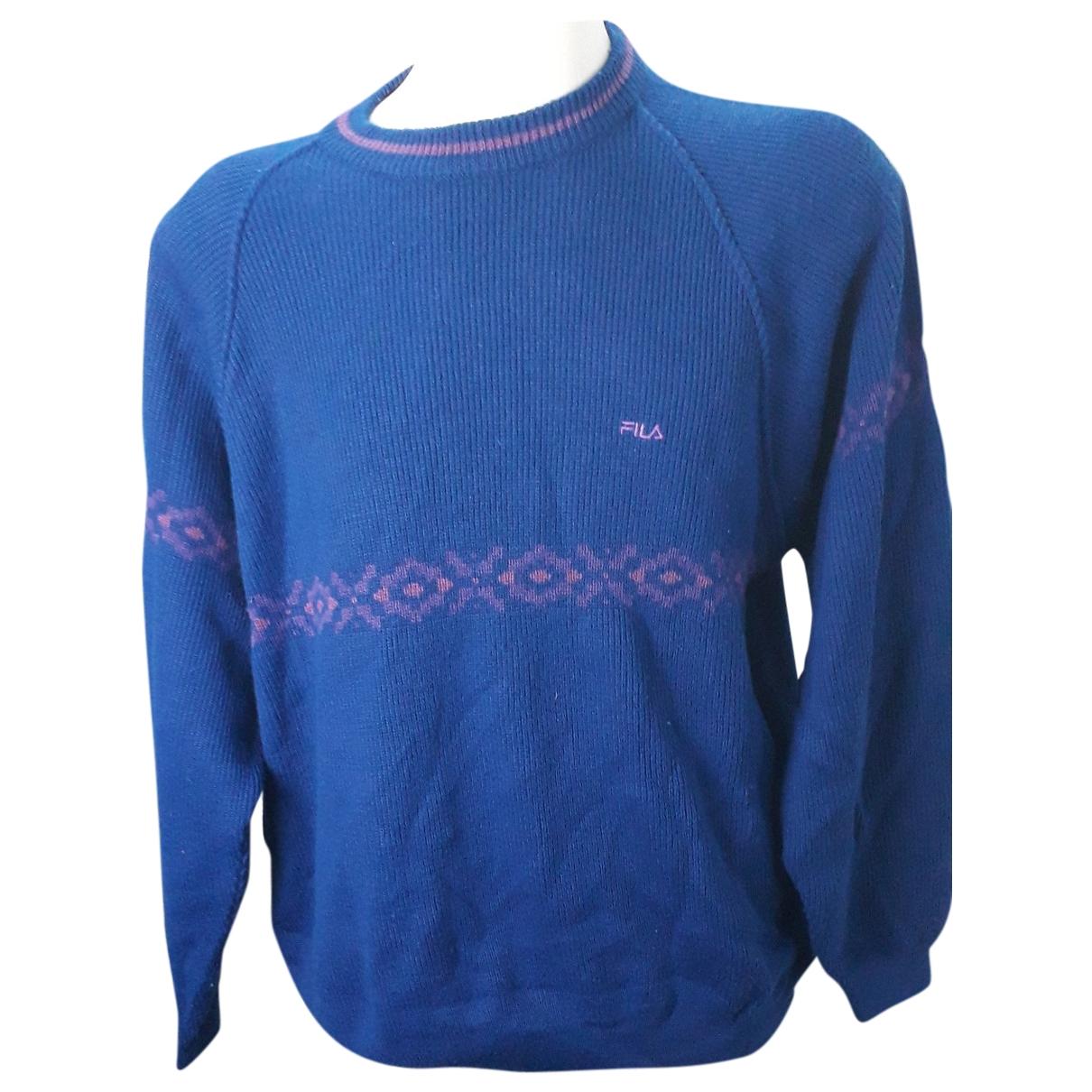 Fila \N Pullover.Westen.Sweatshirts  in  Blau Wolle