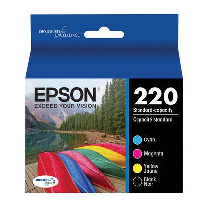 Epson T220 T220120-BCS cartouche d'encre originale noire et couleur combo