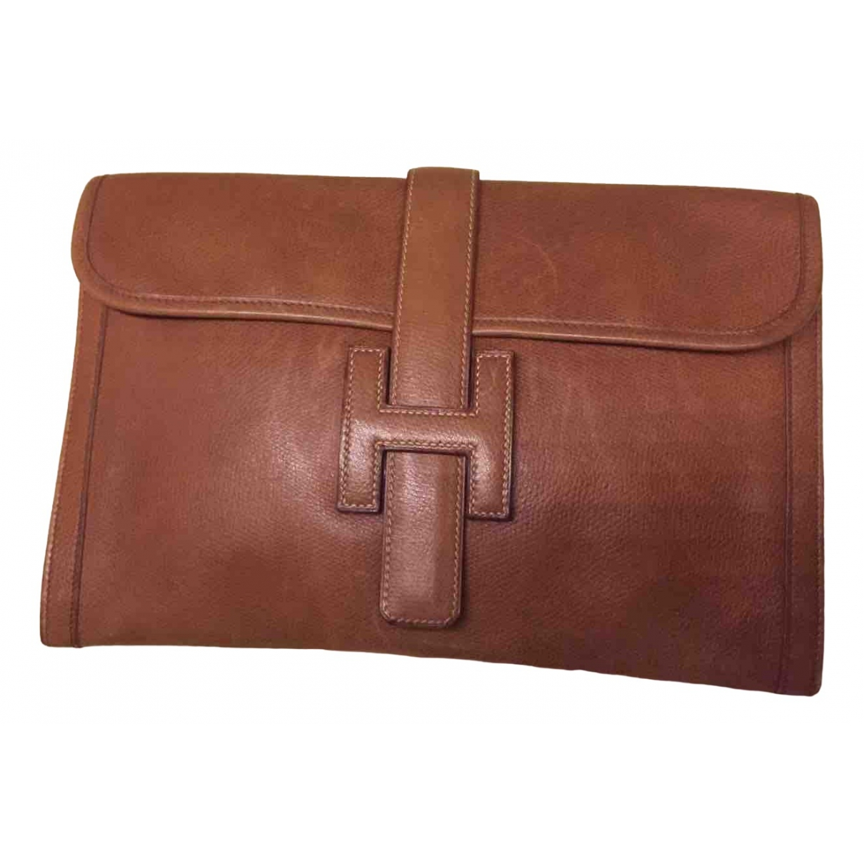 Hermès Jige Camel Leather Clutch bag for Women \N