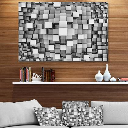 MT6830-40-30 Black And Grey Cubes - Contemporary Metal Wall Art -
