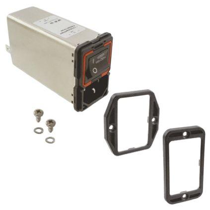 Schaffner ,10A,250 V ac Male Panel Mount IEC Filter 2 Pole FN9280B-10-06,Solder, Spade 2 Fuse