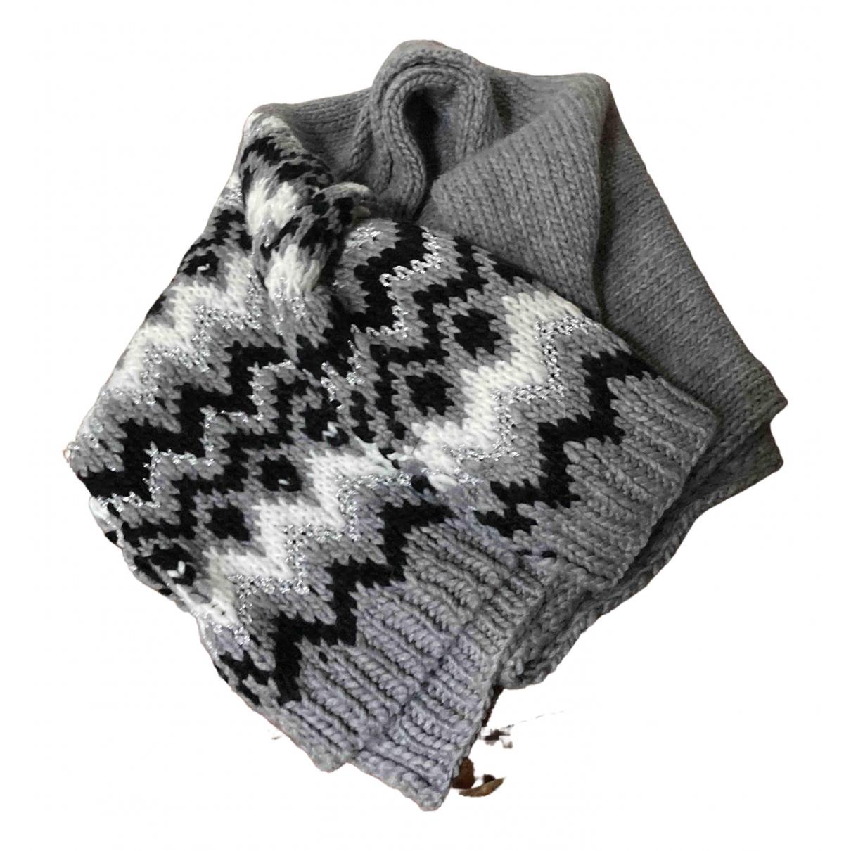 Zara - Foulard   pour femme en laine - gris
