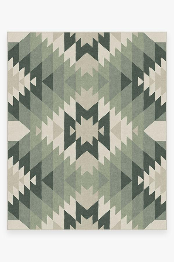 Washable Rug Cover & Pad | Mariposa Sage Rug | Stain-Resistant | Ruggable | 8'x10'
