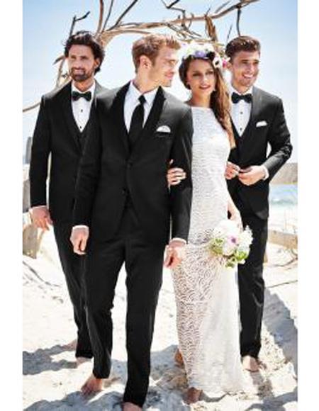Mens Beach Wedding Attire Suit Menswear Black 199