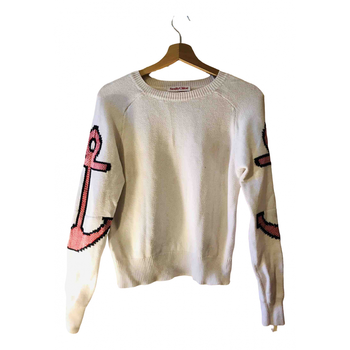 See By Chloe - Pull   pour femme - blanc