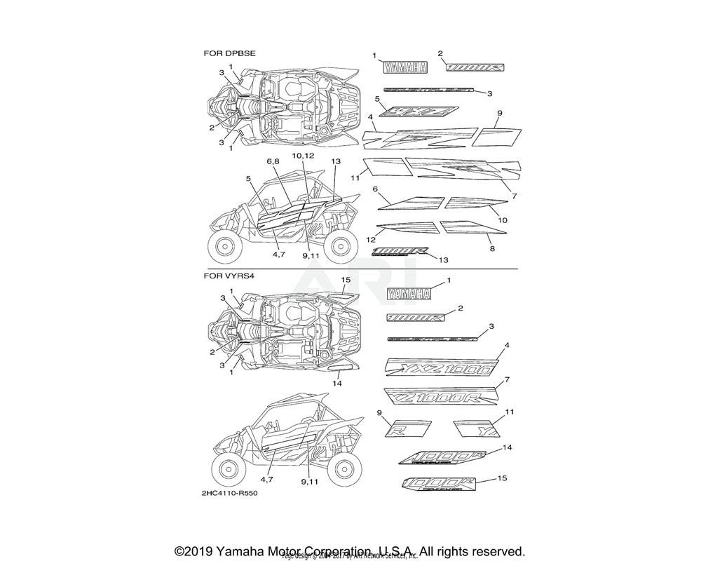 Yamaha OEM 2HC-F1783-10-00 EMBLEM 3 | UR FOR DPBSE