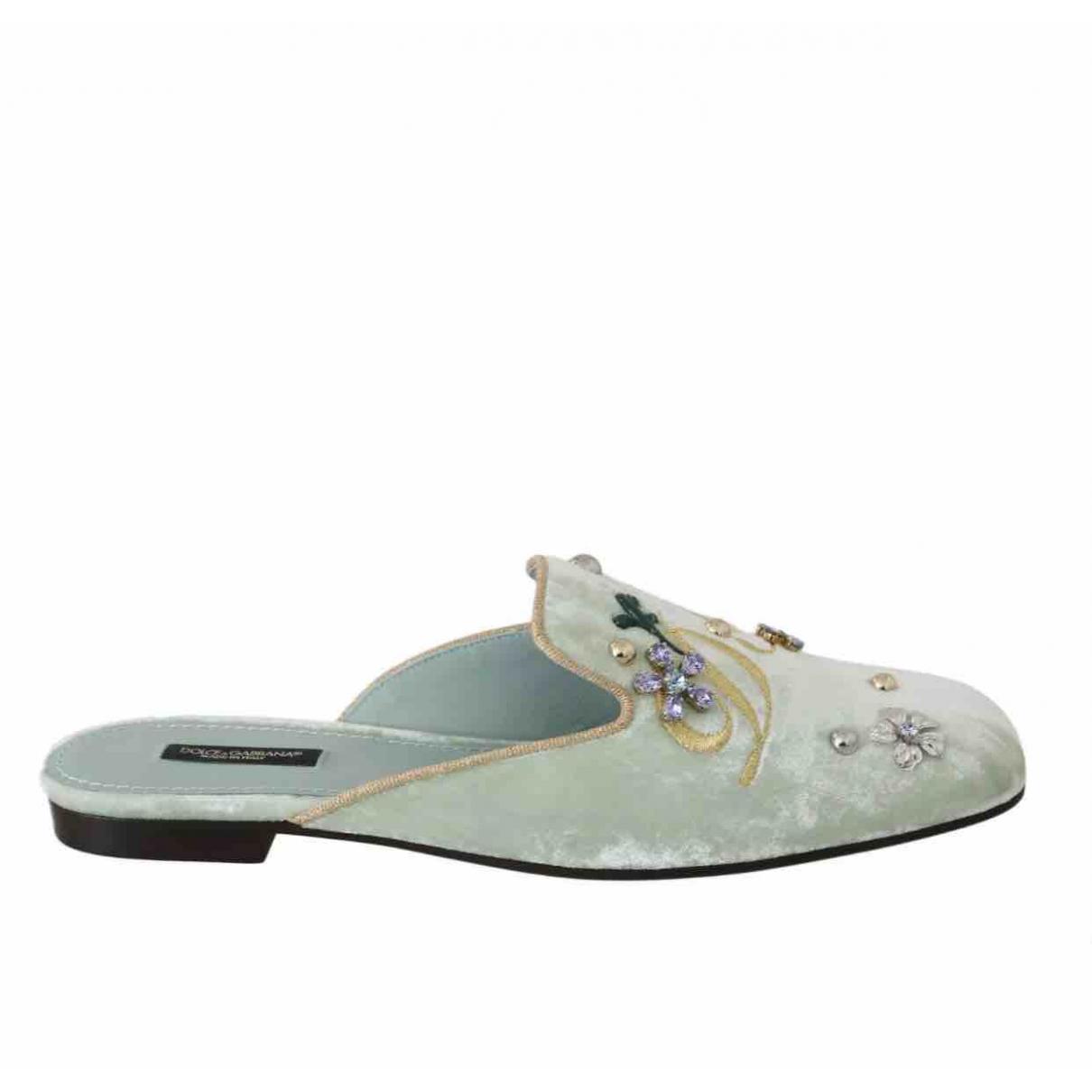 Dolce & Gabbana \N Sandalen in  Gruen Samt