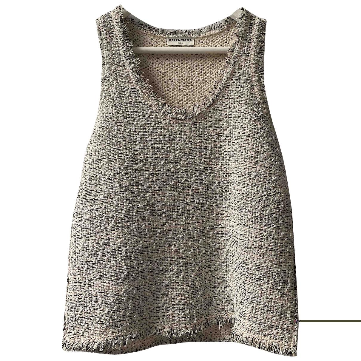 Balenciaga \N Top in  Silber Tweed