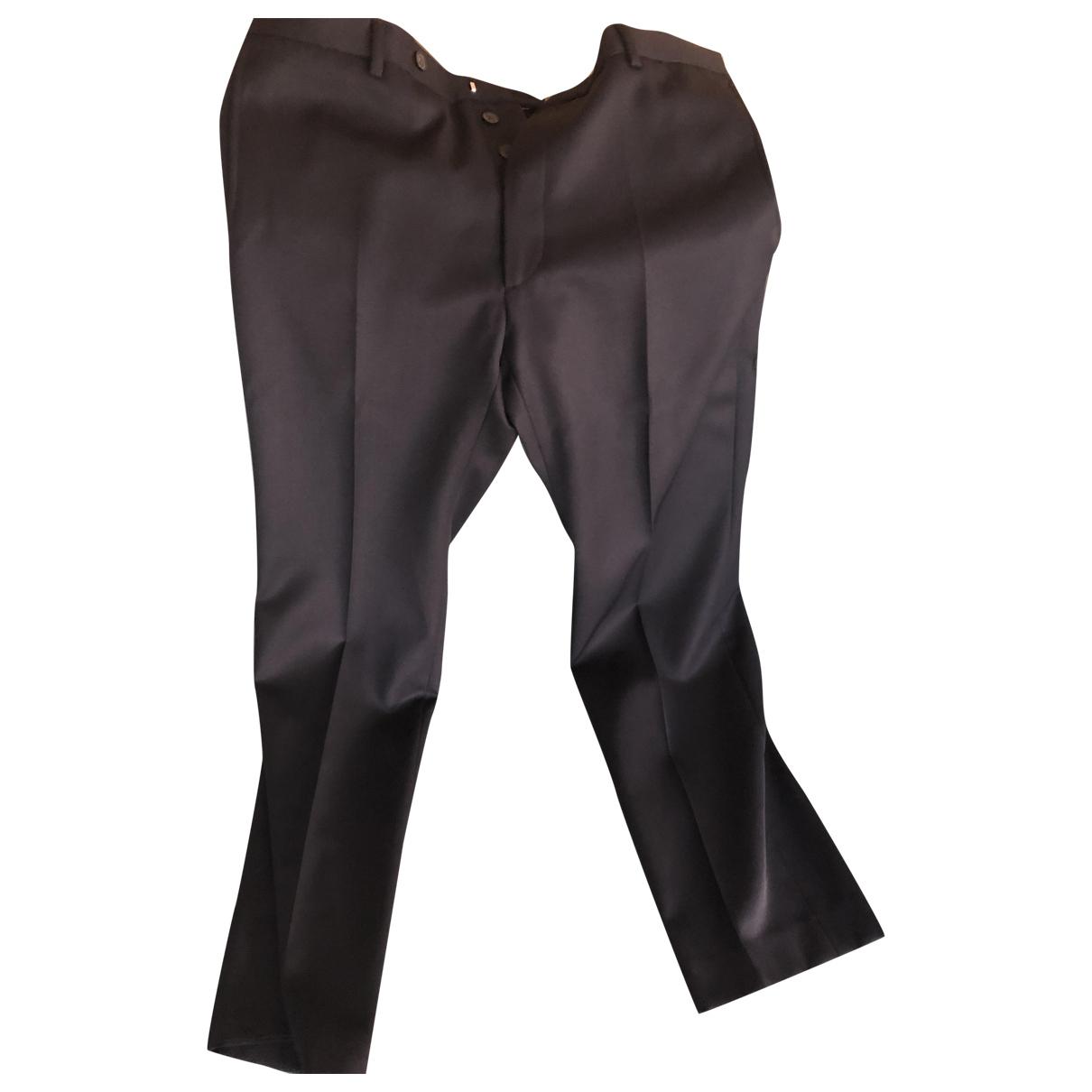 Valentino Garavani \N Navy Wool Trousers for Men 52 IT