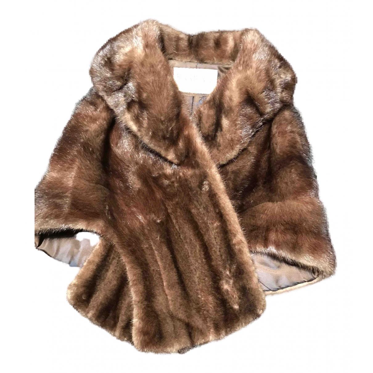 - Blouson   pour femme en vison - marron