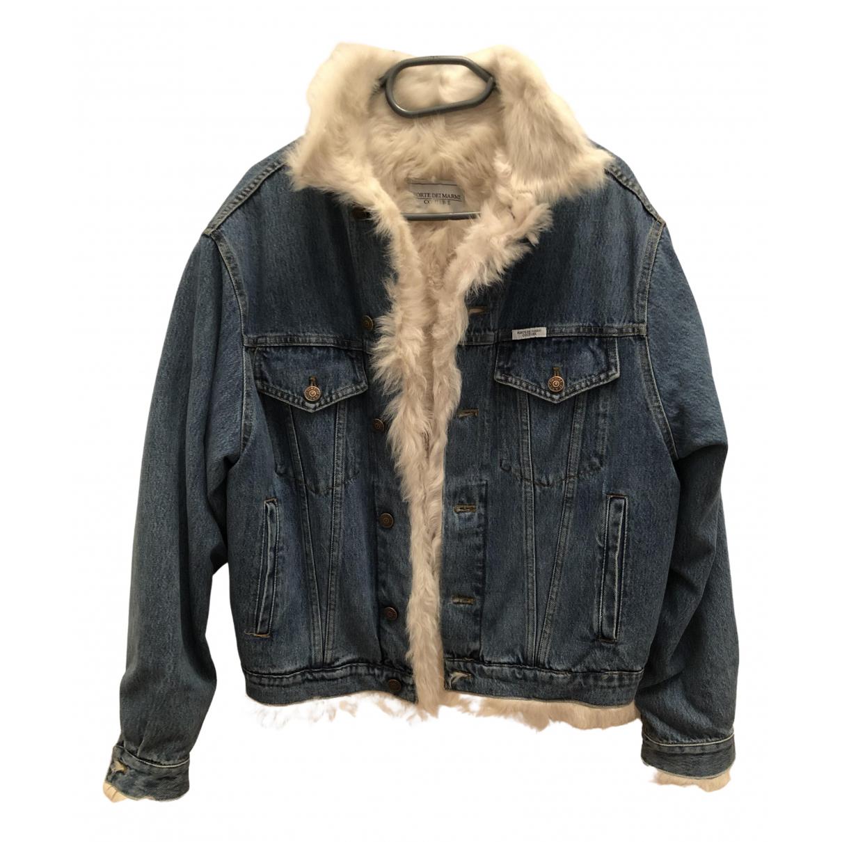Forte Couture - Veste   pour femme en mouton - bleu