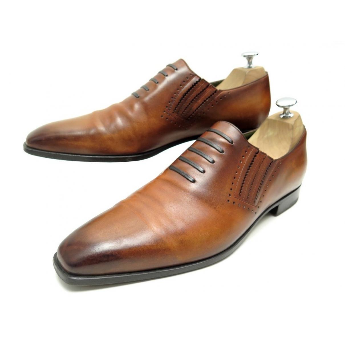 Berluti \N Brown Leather Lace ups for Men 43.5 EU
