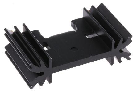 Fischer Elektronik Heatsink, 8.2K/W, 25.4 x 45 x 12.7mm, Clip, Black