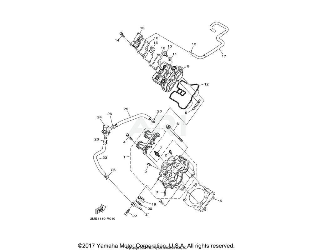 Yamaha OEM 2MB-14840-00-00 AIR CUT VALVE ASSY