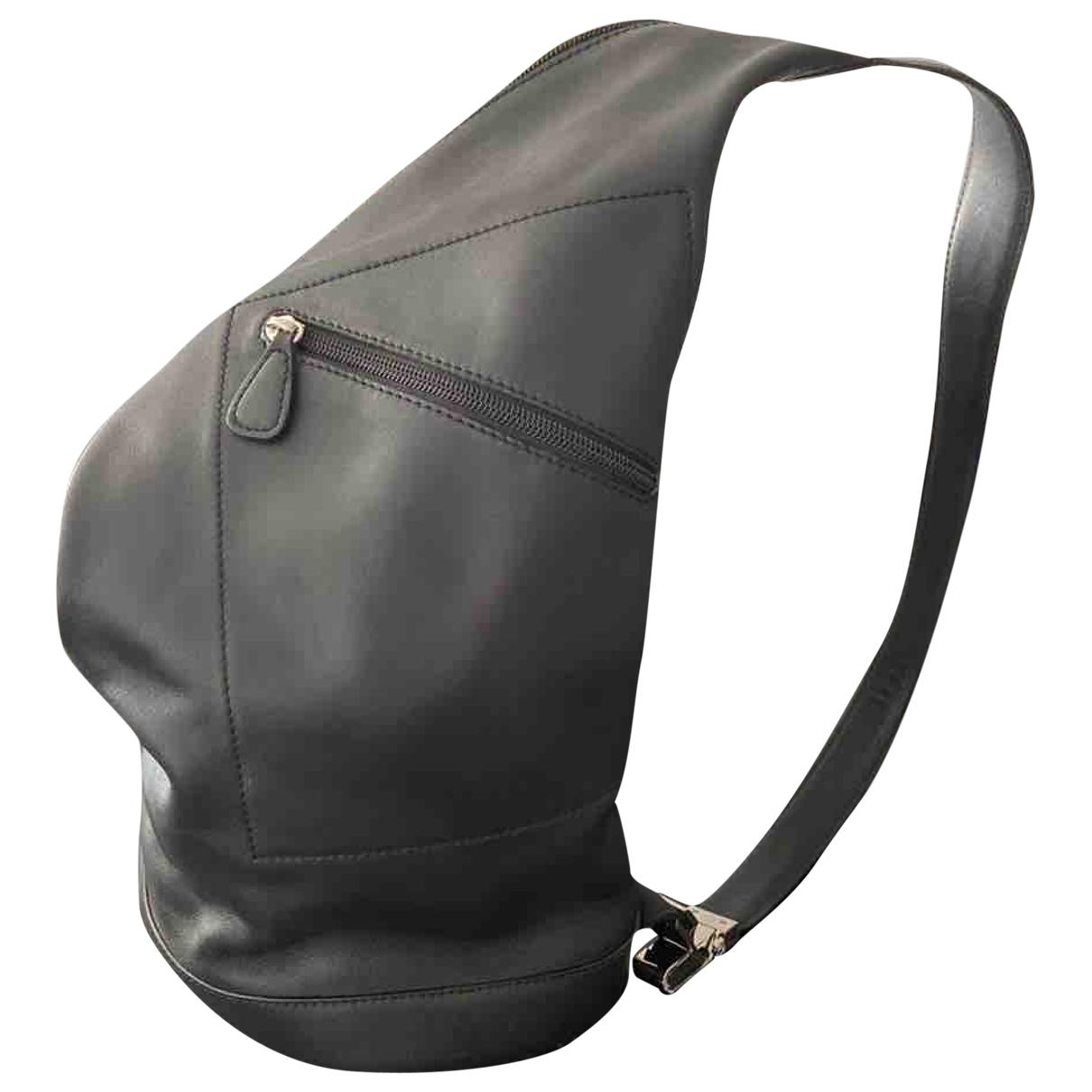 Loewe - Sac a dos Anton pour femme en cuir - gris