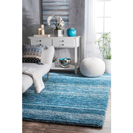nuLoom Hand Tufted Classie Shag Rug, One Size , Blue