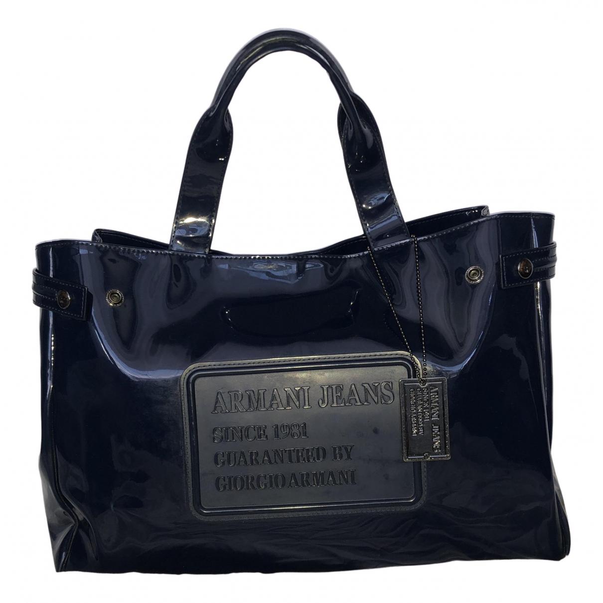 Armani Jeans N Blue Patent leather handbag for Women N