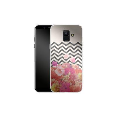 Samsung Galaxy A6 Silikon Handyhuelle - Chevron Flora II von Bianca Green