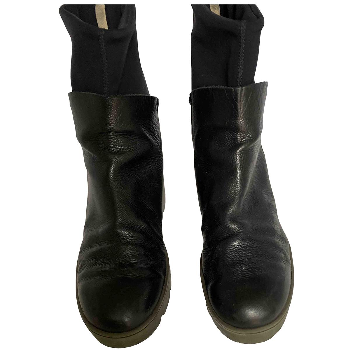 Chiarini Bologna - Boots   pour femme en cuir - noir