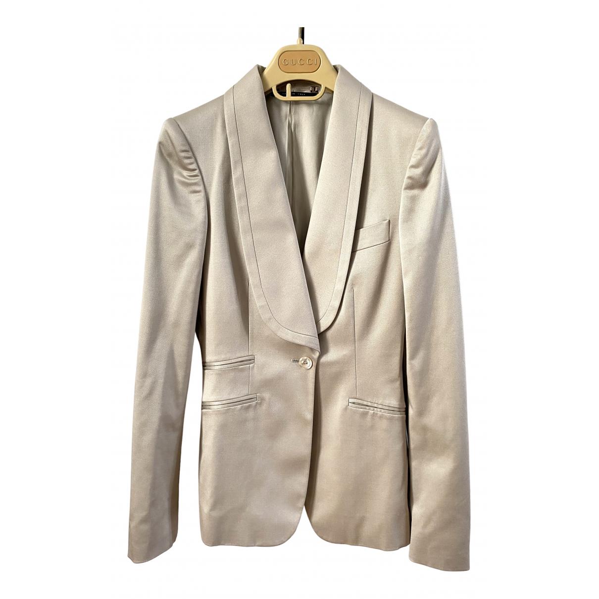 Gucci - Veste   pour femme en laine - beige