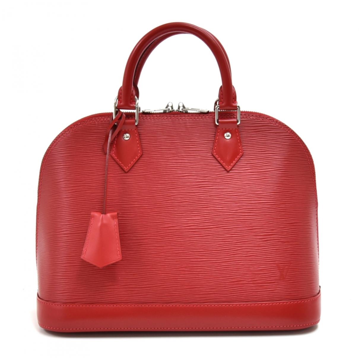 Louis Vuitton - Sac a main Alma pour femme en cuir - rouge