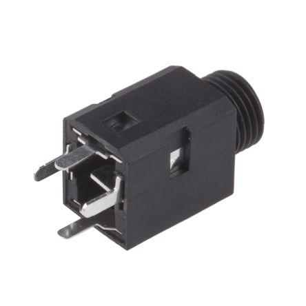 RS PRO 3.5 mm PCB Mount Stereo Jack Socket, Black (5)