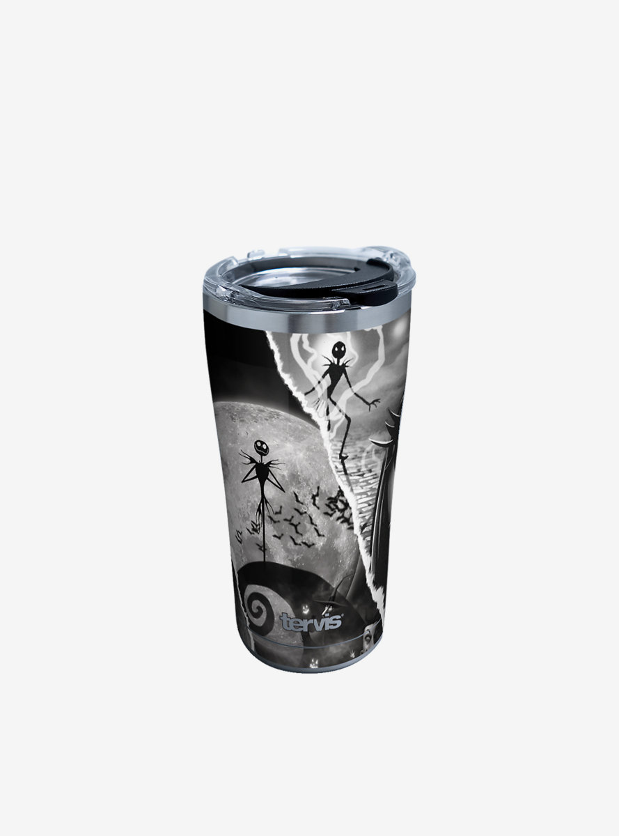 The Nightmare Before Christmas Torn Collage 20oz Stainless Steel Tumbler With Lid