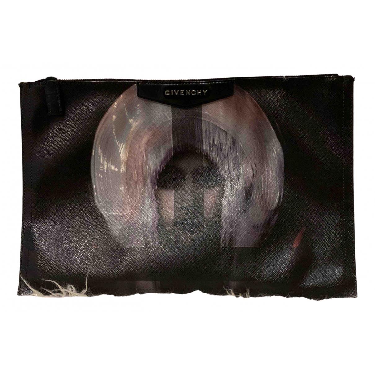 Givenchy \N Clutch in  Schwarz Polyester